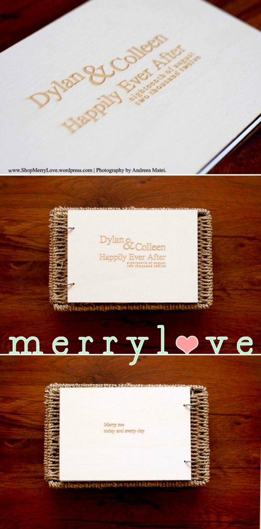 MerryLove Wedding Guest Book - Happily Ever After