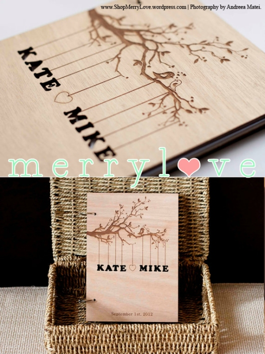 MerryLove Wedding Guest Book - Love Birds
