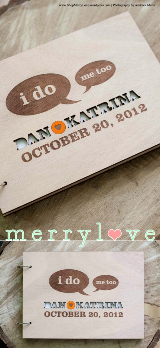 I do Me too! MerryLove Wedding Guest Book