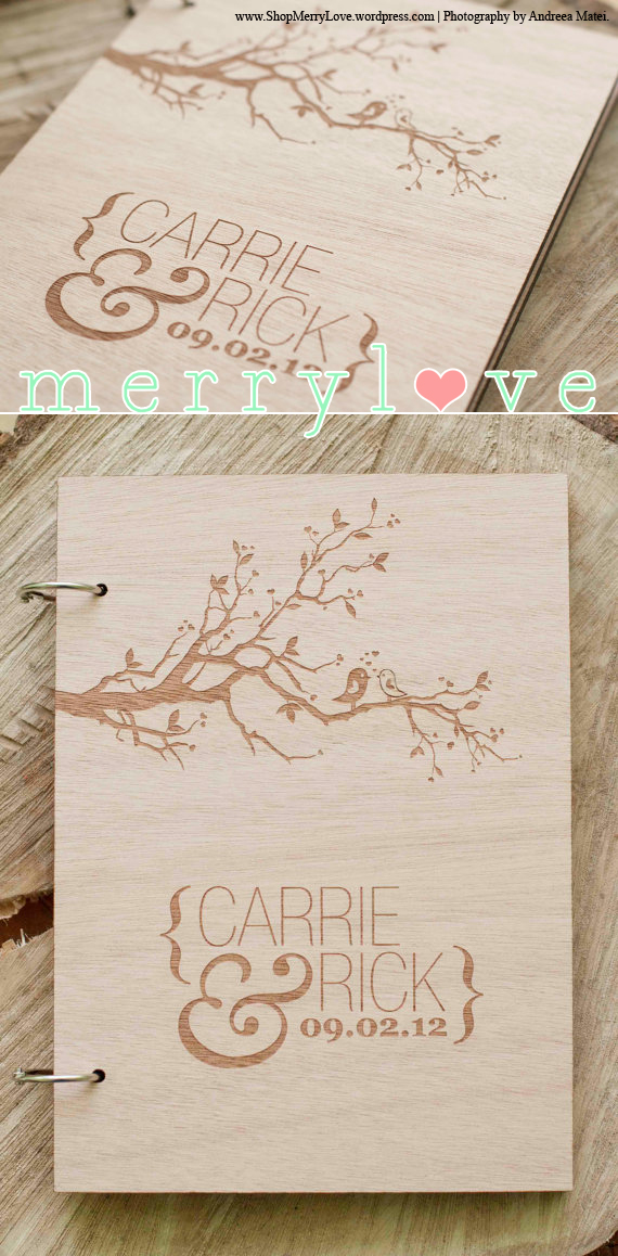 LoveBirds Classic MerryLove Wedding Guest Book